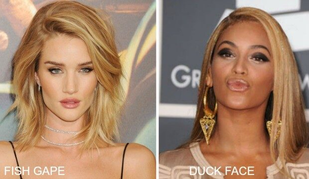 The Fish Gape vs The Duck Face The Celeb Edition